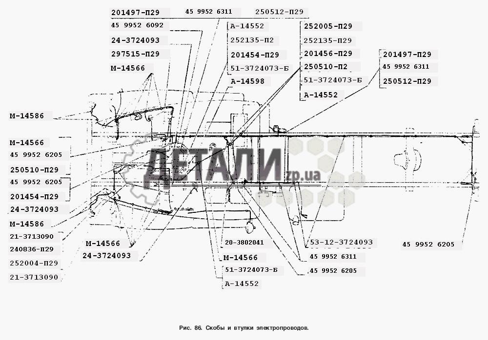 Скобы и втулки электропроводов (86) .