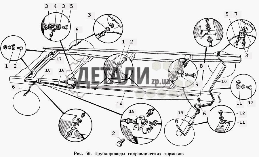 Центральный тормоз и управление (057) .