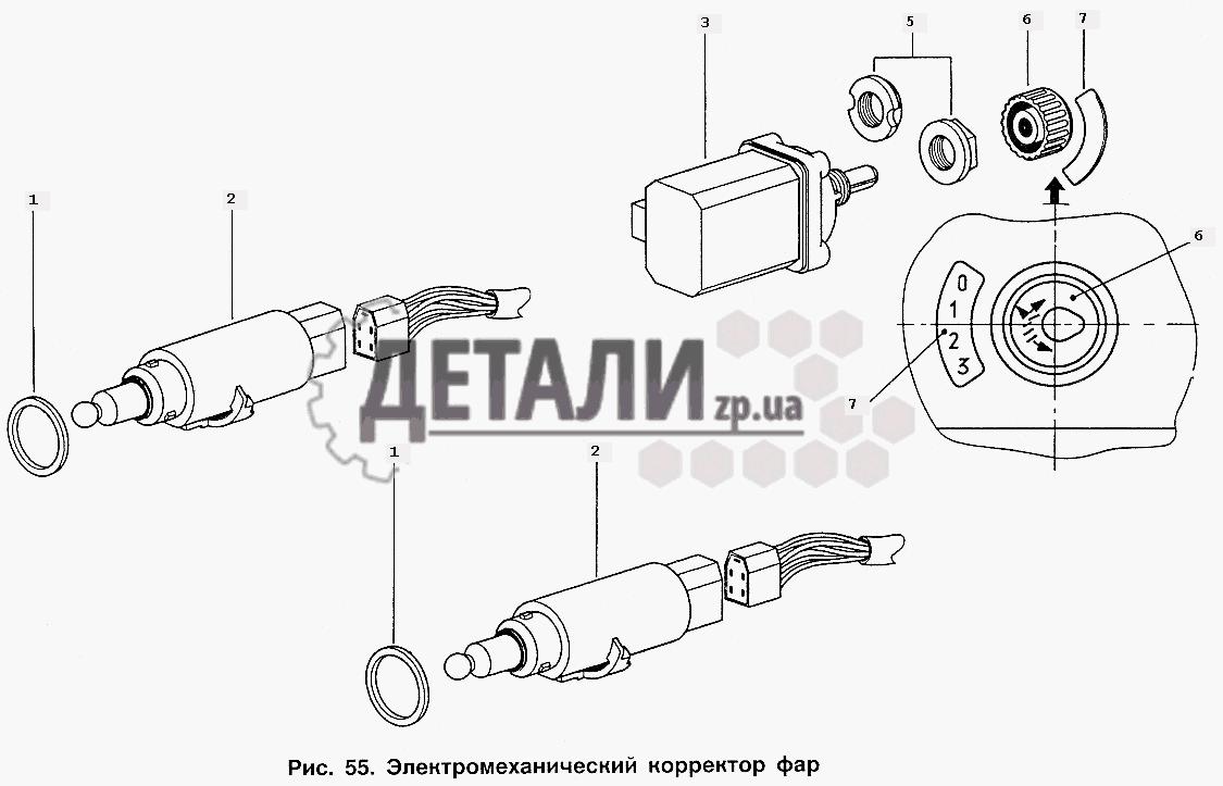 Плафон освещения салона кузова, световозвращатель, боковой указатель поворота (89) .