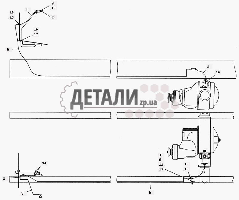 Привод блокировки межколесного дифференциала Э4308-2411010 (83) .