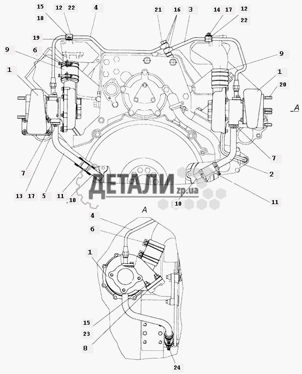 Установка турбокомпрессоров на двигателе (112) .