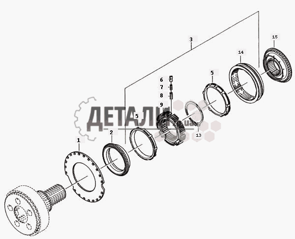 Синхронизатор планетарной передачи (139) .