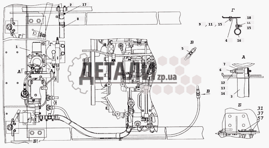 Установка подогревателя 14ТС-10 (371) .