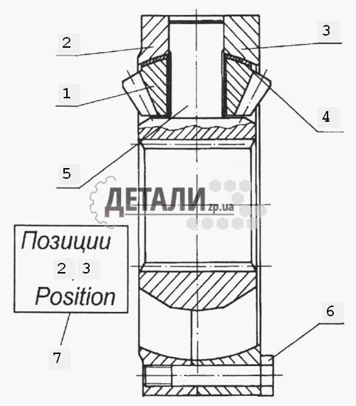 Сателлит межосевого дифференциала с втулкой (159) .
