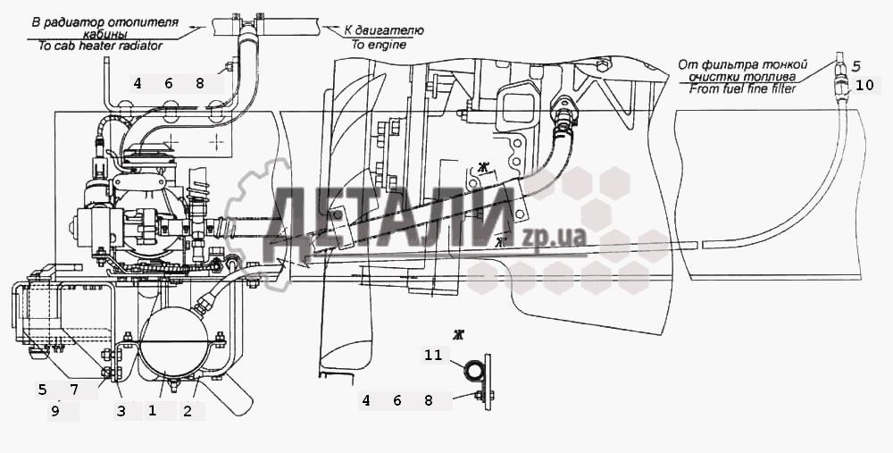 Установка подогревателя 14ТС-10 (350a) .