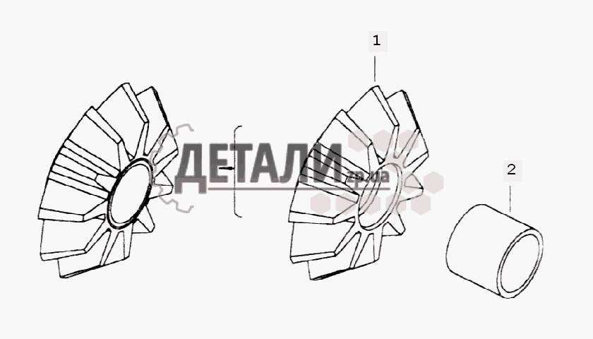 Сателлит межосевого дифференциала с втулкой (60) .