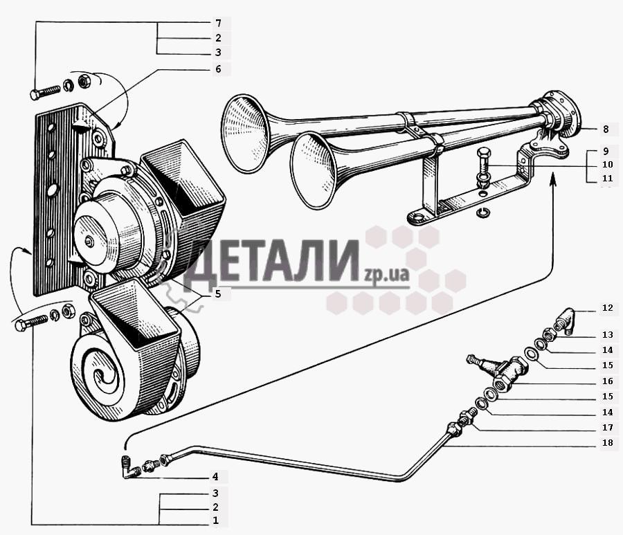 Электрооборудование КрАЗ-6510, КрАЗ-65101 (090) .
