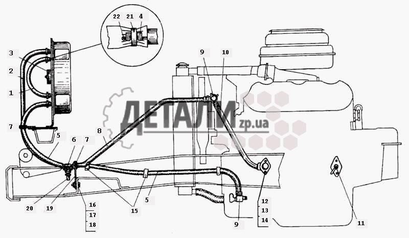 Отопитель кабины автомобиля МАЗ-504В (165) .