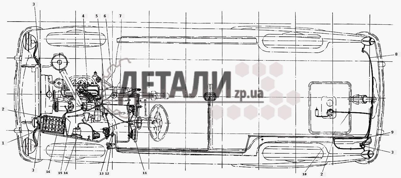 Монтажная схема электропроводки (085) .