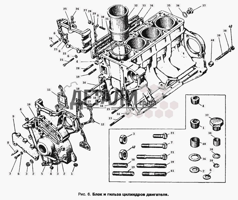 Головка блока цилиндров двигателя (007) .