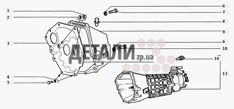 Сцепление для Chevrolet Niva 1.7 с гарантией качества.  Тел. (061) 289·06·09.  Оптовые цены, доставка по Украине.