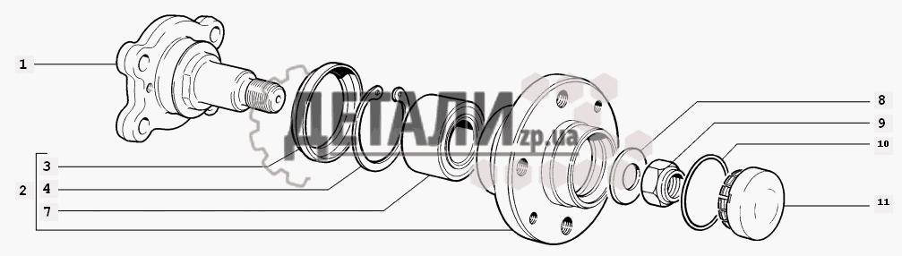 Ступицы задних колес (78) .