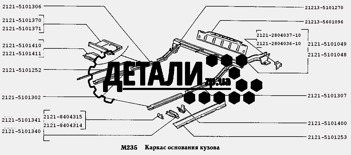 Каркас основания кузова (214) .