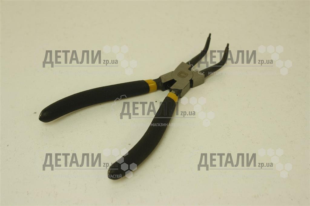Щипцы для снятия стопорных колец изогнутые на сжим 175 мм СИЛА обрезиненные 310702 – купить на ДЕТАЛИ.zp.ua