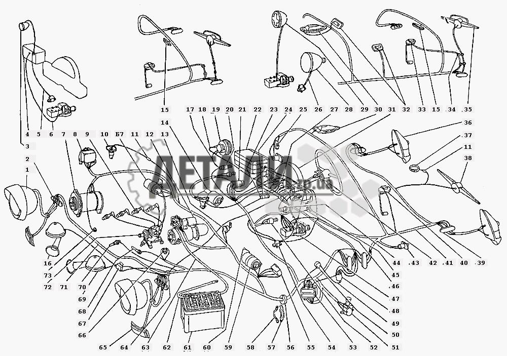 Схема электрооборудования (с