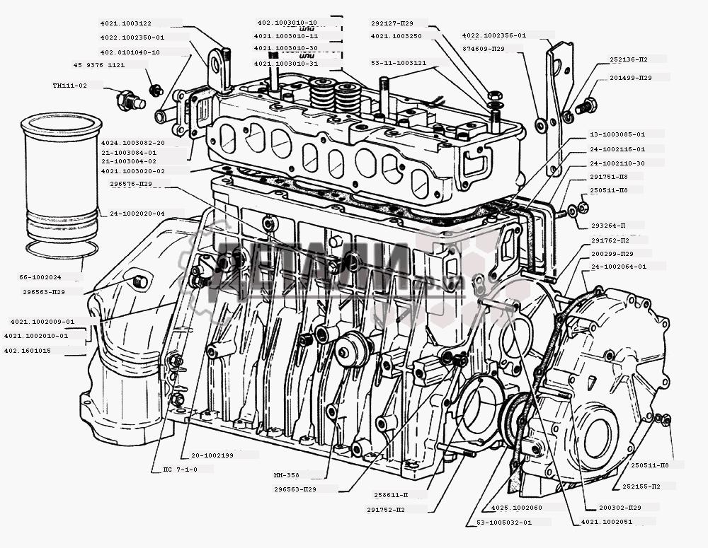двигателей ЗМЗ-402