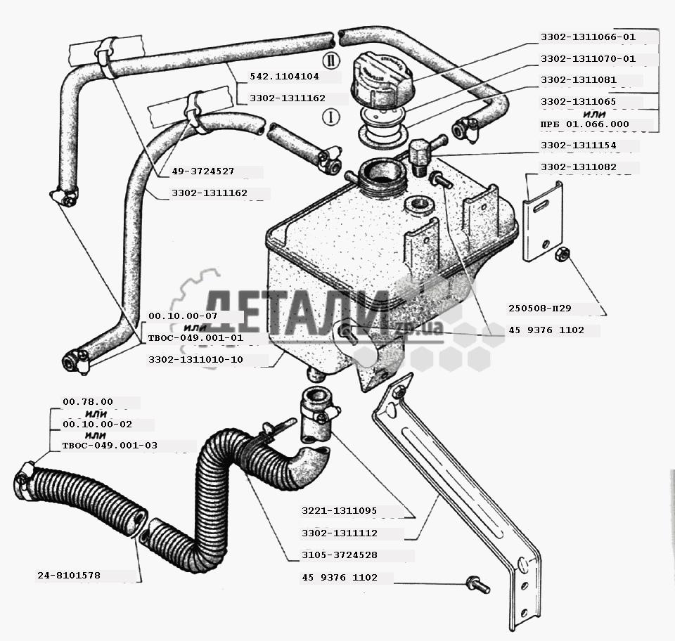 двигатель 405 евро 3 система охлаждения схема