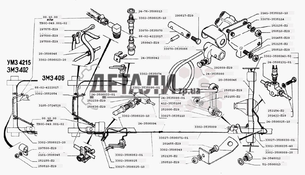 Трубопроводы тормозной системы
