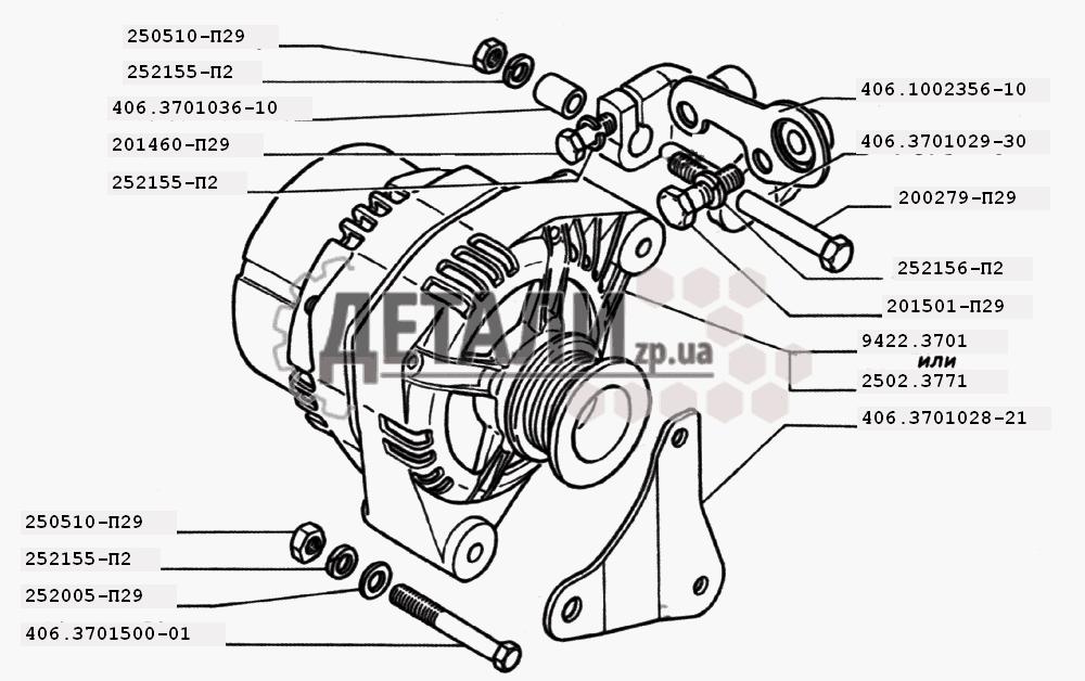 Генератор двигателей ЗМЗ-406