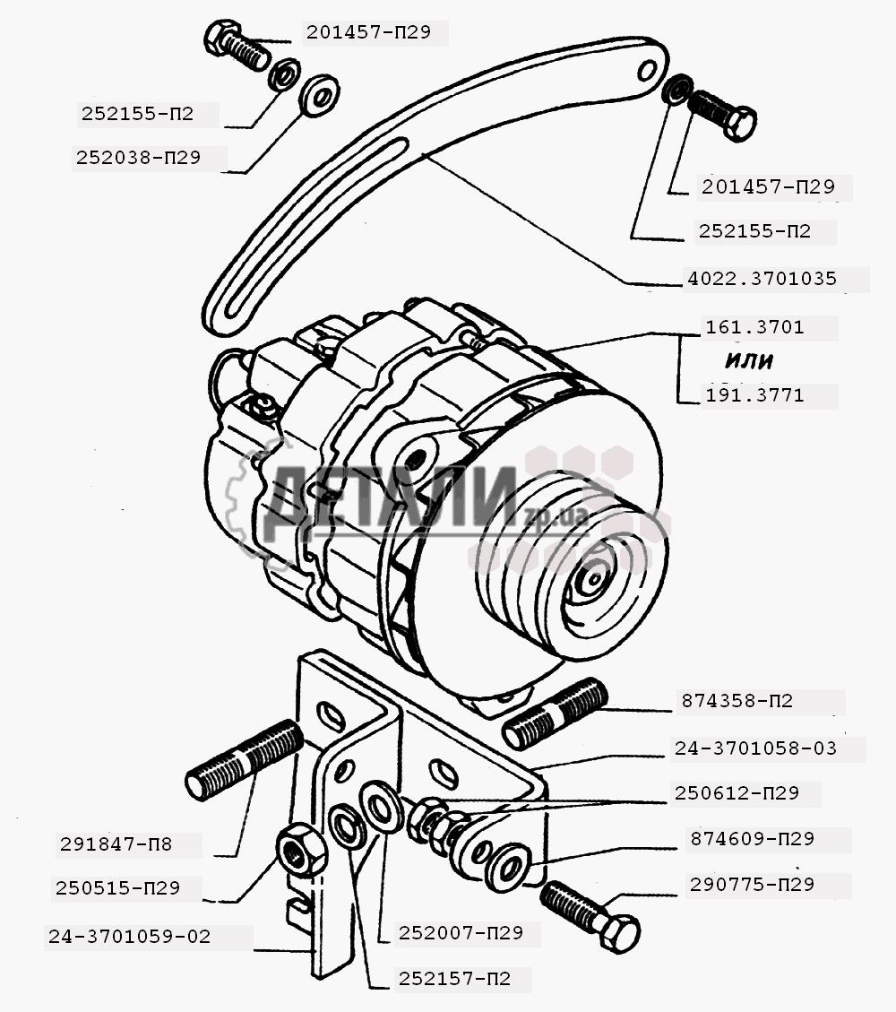 генератор в разрезе газель 402 схема