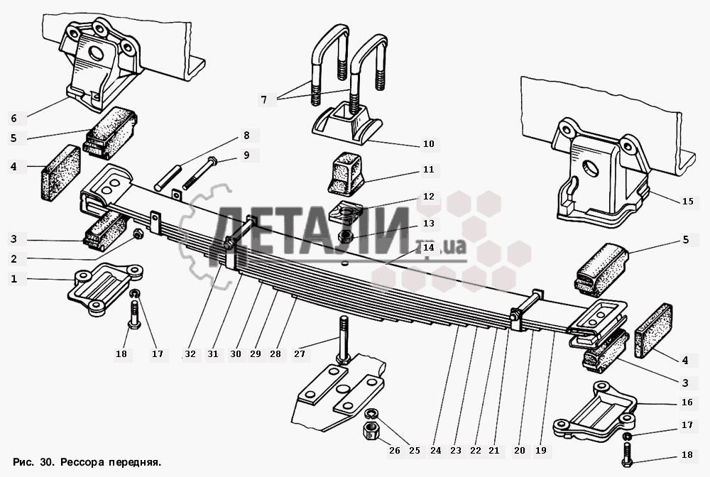 Амортизатор передней подвески