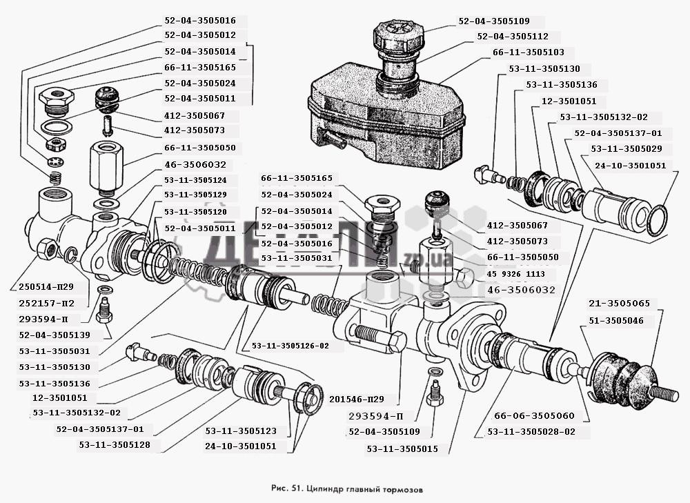 Цилиндр главный тормозов (51)