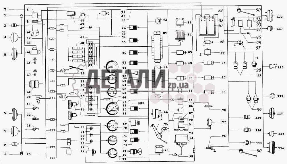 Электрооборудование КрАЗ-6510