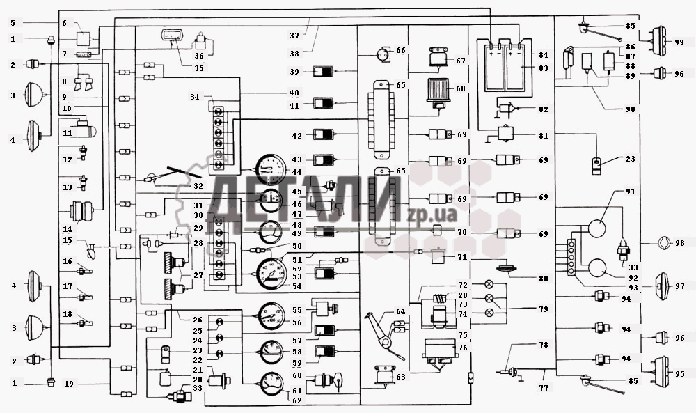 Электрооборудование КрАЗ-6444
