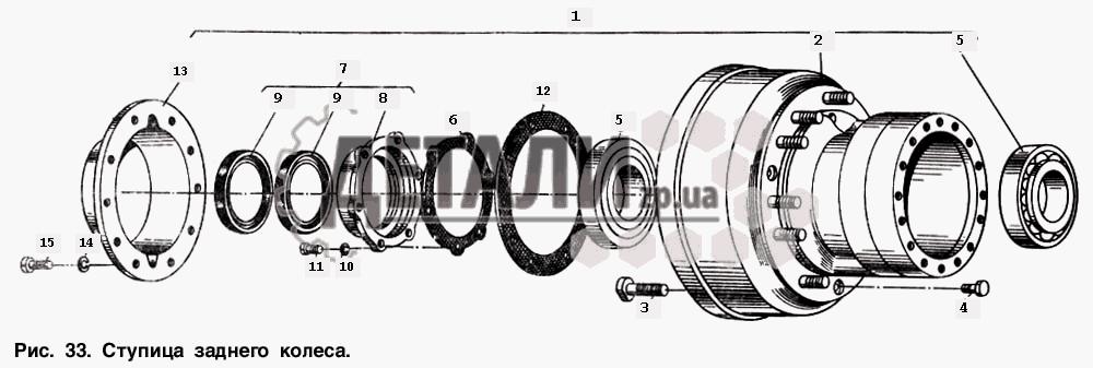 Ступица заднего колеса (33)