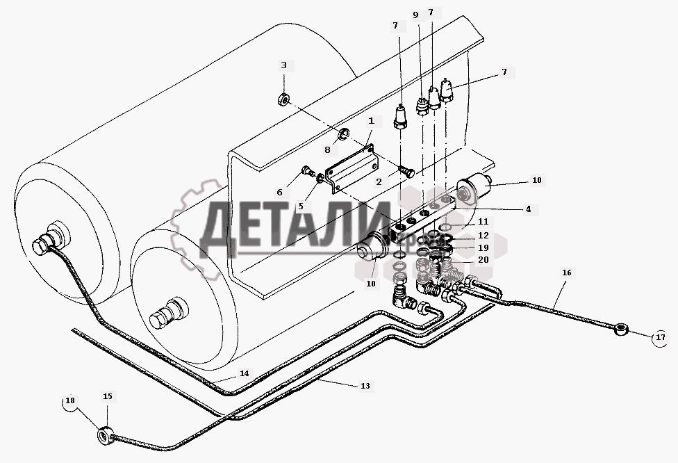Установка датчиков МАЗ-64226