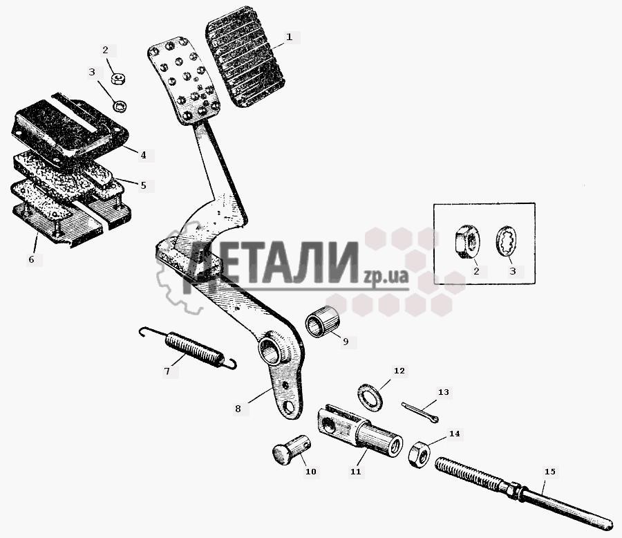 Педаль тормоза и привод (061)