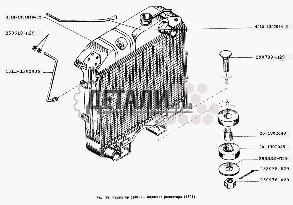 Радиатор, и подвеска радиатора