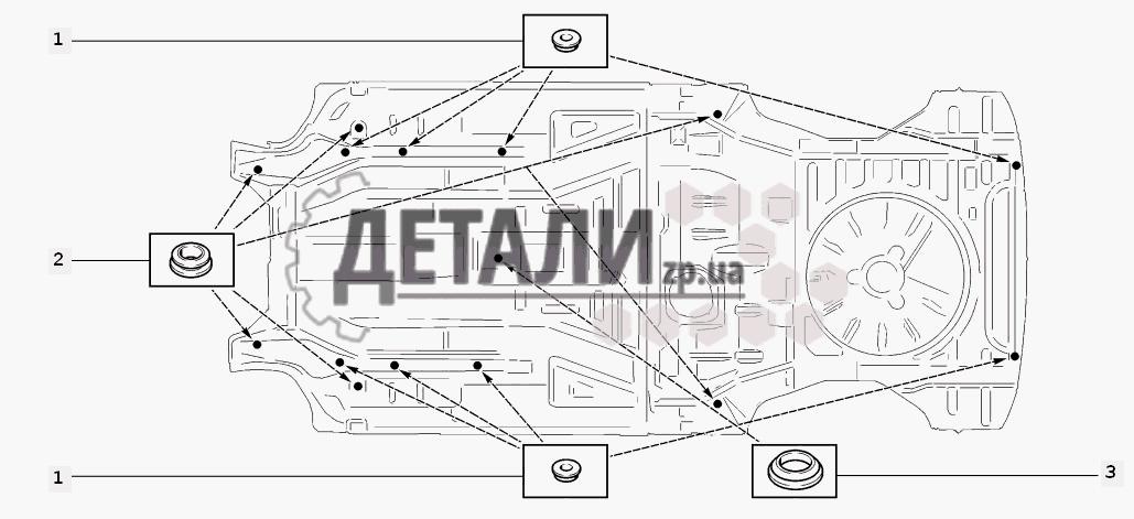 Схема установки заглушек (169)