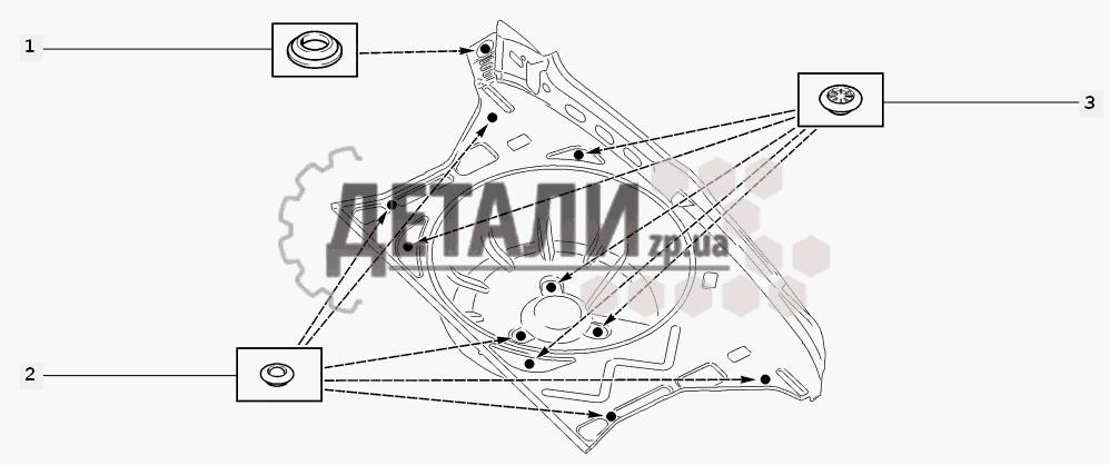 Схема установки заглушек (170)